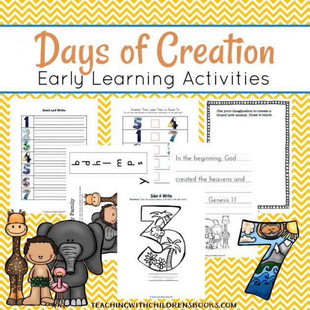 Days of Creation Activities and Printables for Kids ...
