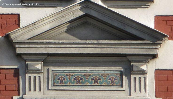 Jeux de briques et céramiques polychromes à Pantin (93) - Céramique Architecturale Décorative
