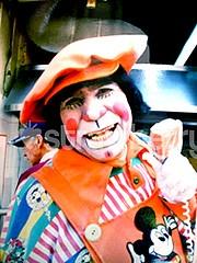 restaurant clown, Bogotá. Colombia