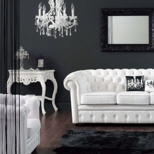 Superior Inspiration   Baroque Themed Black And White Decor And Furniture. Love  Black And White Decor In The Living Room With A Touch Of Red :)