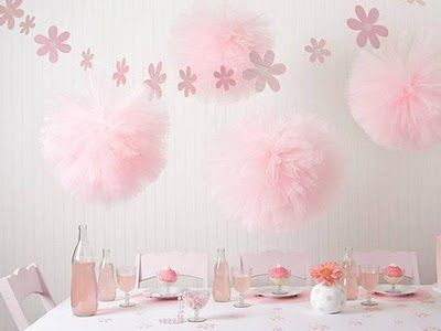pink tulle pom poms from heart-to-heart gifts