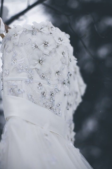 Gorgeous beaded details on Alfred Angelo Style 206 Snow White wedding dress