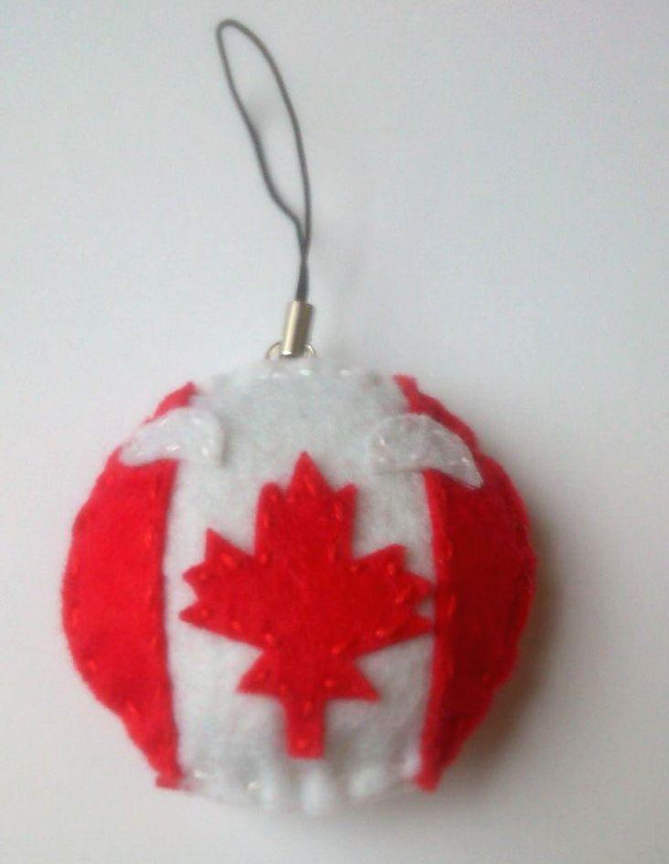 Canadaball handmade felt keychain by TosTosia