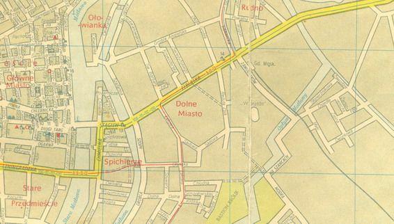 Dawny Gdańsk :: Zobacz temat - Powojenne Mapy Gdańska