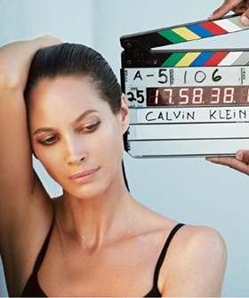 Supermodel Christy Turlington Is The New Face Of Calvin Klein Underwear at age 44:)