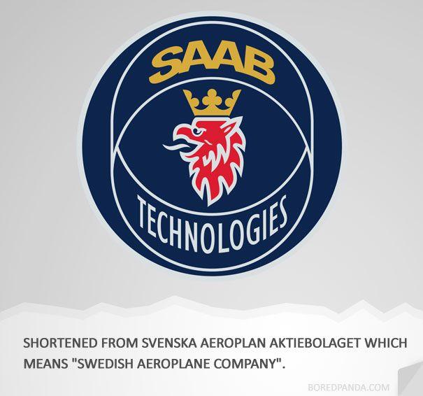 How Famous Companies Got Their Names | #SAAB:  Hockey Puck, Fun Stuff, Big Company, Logos Saab, Fun Facts, Branding Logos, Automobilesaab Suèd, Famous Branding, Famous Company
