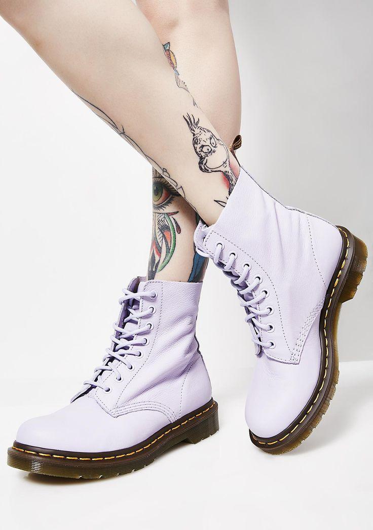 Dr. Martens Purple Heather Pascal Boots cuz you're feelin' like a princess