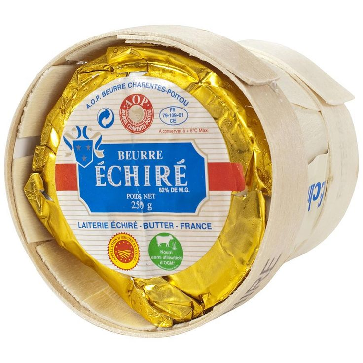 A famed artisan French butter, from the milk of cows of the small village of Poitiers and La Rochelle. Known as one -if not the best- of the best butters in France, Echire butter is served in the finest dining establishments (which is why the French