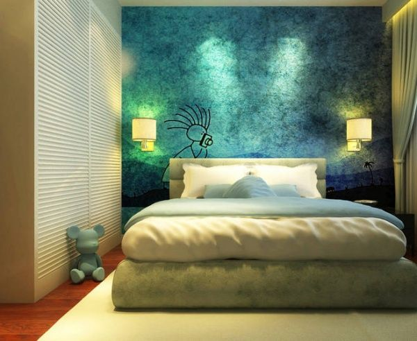 Bedroom Wall Painting Ideas Painting Ideas For Interior Wall 2016 Painting  Ideas Bedroom Wall Painting Colors 600x492 | Interior Design | Pinterest |  Wall ...