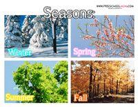 Seasons Preschool Printables