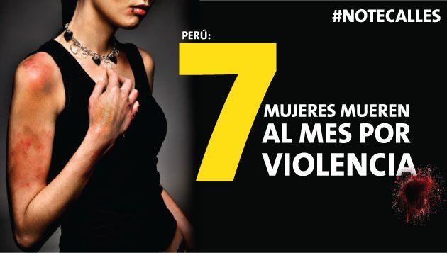 Día de la Eliminación de la Violencia contra la Mujer: 7 mujeres mueren al mes por violencia [Infografía]