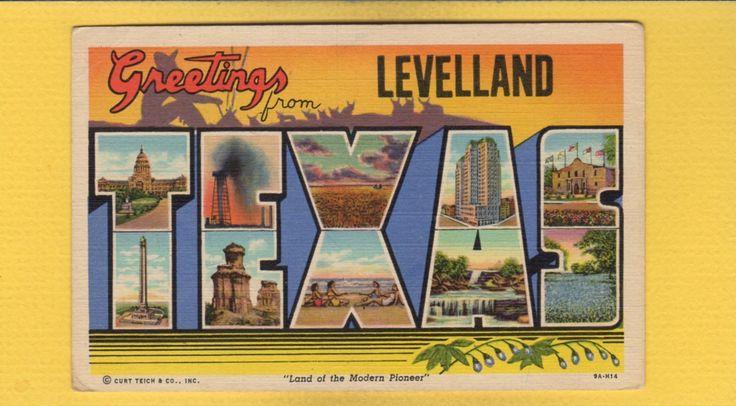 Texas Poster 11x17 Greetings From Texas Souvenir Retro Western Novelty