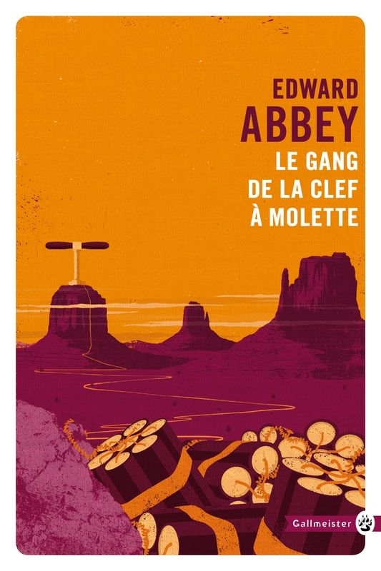"""Book cover conceptual illustration art for """"The Monkey Wrench Gang"""" by Edward Abbey. Client: Editions Gallmeister. Artist: Oli Winward. #illustration #BookCover #conceptual #WildWest #dynamite #environmentalism #terrorism #graphic"""
