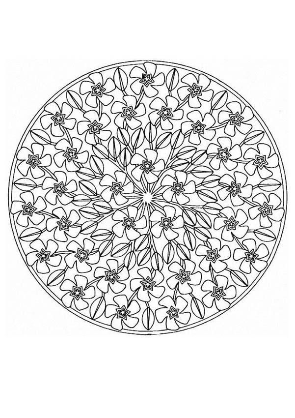 Difficult Level Mandala Coloring Pages | Mandalas for EXPERTS - Mandala 68