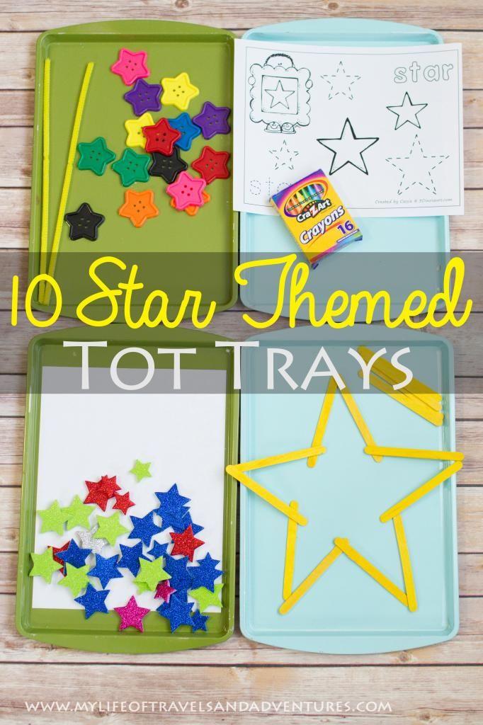 10 Star Themed Tot Trays