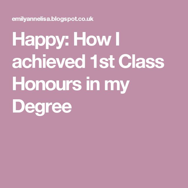Happy How I achieved 1st Class Honours in my Degree University