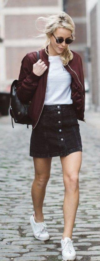 Best 25 Button Front Denim Skirt Ideas On Pinterest