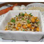 Zuppa orzo funghi e carote
