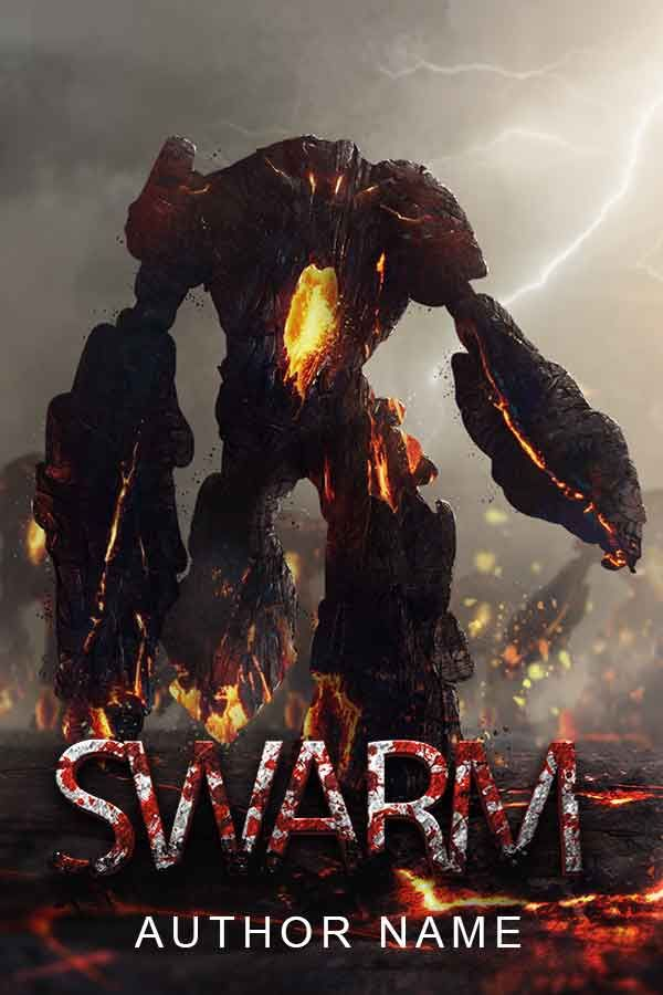 New Book Cover for Sale: Swarm - Hachiimon https://bookcovers.io/covers/swarm-hachiimon?utm_content=buffer46172&utm_medium=social&utm_source=pinterest.com&utm_campaign=buffer #action&adventure #fantasy #horror #staffpicks This premade book cover design is perfect for any young adult horror adventure that features demon infested lava golems summoned by an evil magician to destroy his enemies. All text elements are subject to be changed to the buyer´s requirements.   Keyword Tags …