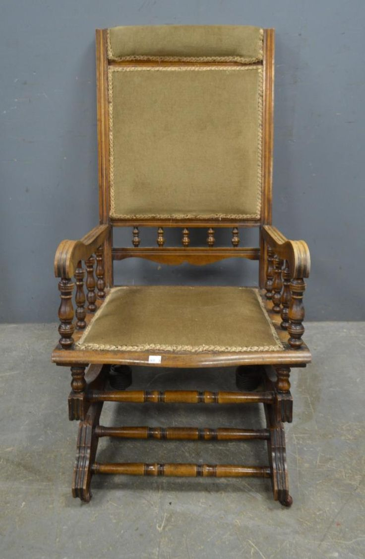 Victorian rocking chair - Victorian Rocking Chair Together With Two 19th Century Arm Chairs And A Foot Stool