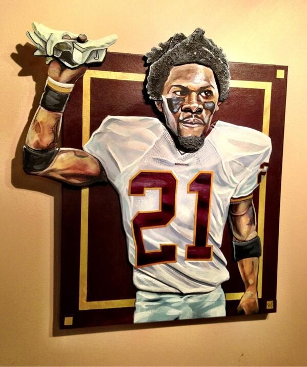 Sean Taylor popup art #hailyeah awesome