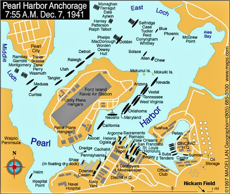 Image result for aerial map pearl harbor 1941