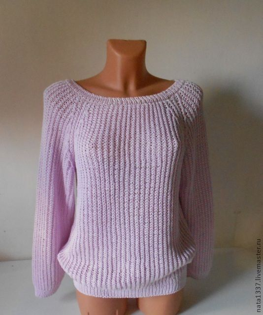 свитер английской резинкой спицами со схемами и видео вязание 1
