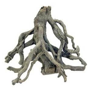 Faux mangrove tree root stump solid resin aquarium cichlid for Aquarium wood decoration