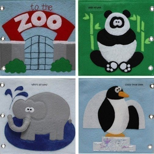 To the Zoo - ePattern for a Toddler's Quiet Book--good animal ideas but would need to make it more interactive.