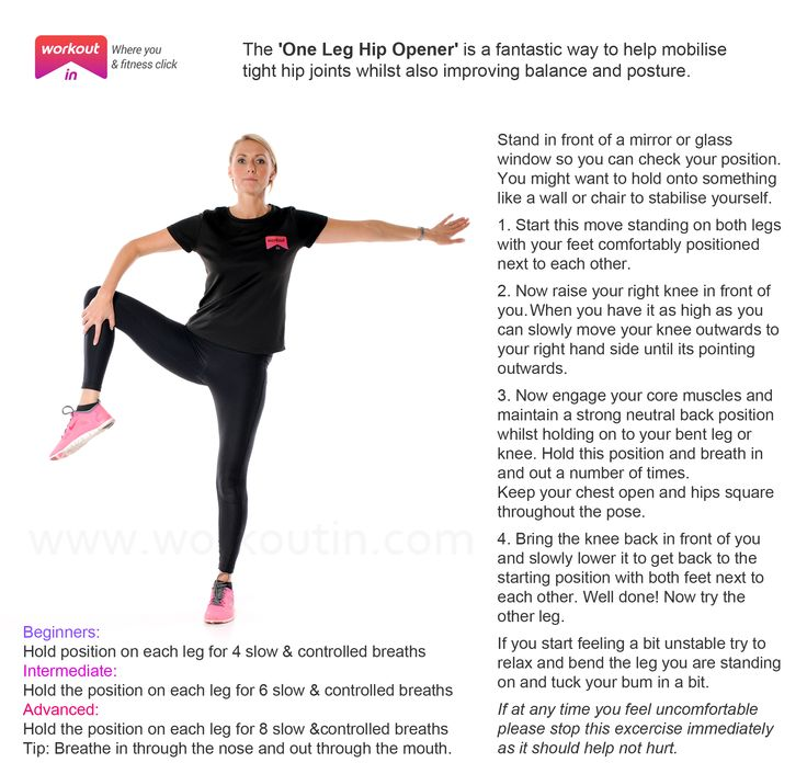 One Leg Hip Opener | Workout In | effective 5 mins exercisesWorkout In Blog