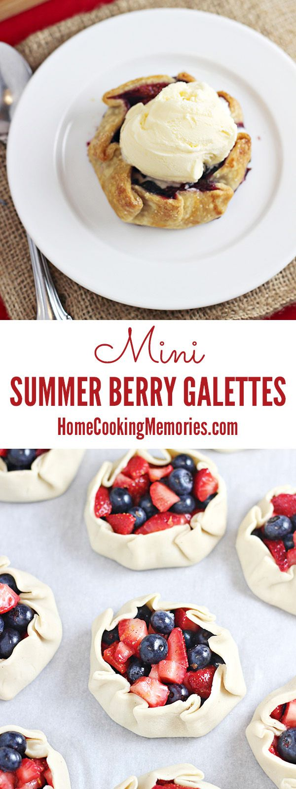Mini Summer Berry Galettes are like a pie, but so much easier to make! It's a summer dessert that's sure to impress your guests.
