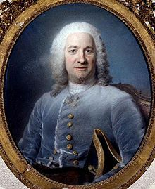 Portrait of Jean Pâris de Montmartel, by Maurice Quentin de La Tour. 1746,(3.08.1690 at Moirans-10.09. 1766 at his château at Brunoy) was a French financier.He was the youngest of the four Pâris brother, who were financiers under Louis XIV and Louis XV.At the height of his fortunes he had 370,000 livres invested in the powerful Société d'Angola,which was the first European company set up to deal in the Atlantic slave trade,managed by Antoine Walsh,the richest and most famous of the Irish of…