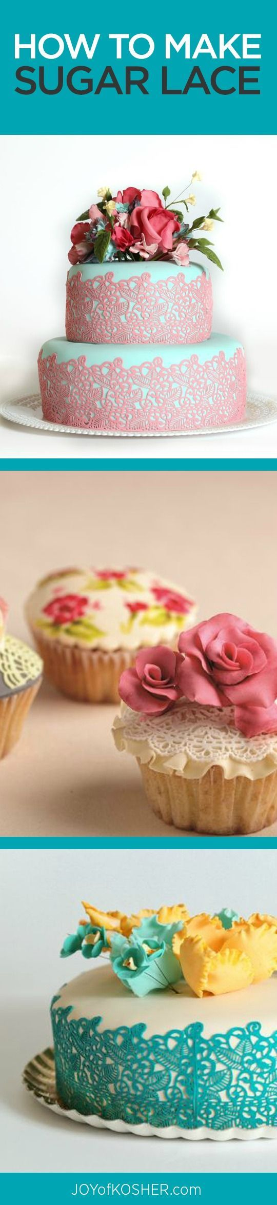 Learn to decorate a cake with sugar lace - tips and tricks here for gorgeous desserts