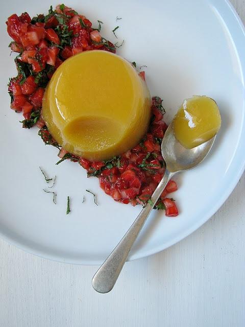 vegan mango jelly w/ strawberry & mint salad | my darling ...