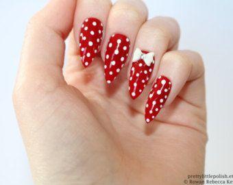 Floral stiletto nails Fake nail Stiletto by prettylittlepolish
