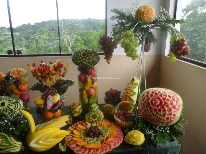 17 melhores ideias sobre mesa de frutas decoradas no - Mesas de navidad decoradas sencillas ...