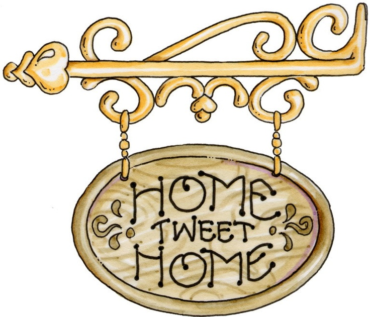 COUNTRY, HOME SWEET HOME CLIP ART