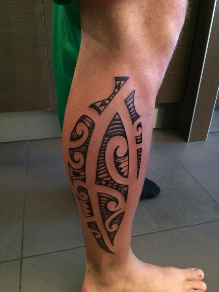 Maori tattoo van thijs  Maori kuit calf moko tatoeage tattoo