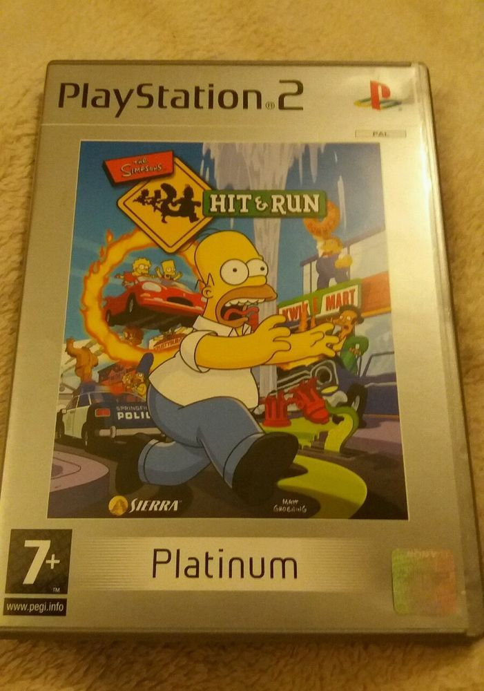 #PLAYSTATION 2 GAME PLATINUM #THESIMPSONS HIT AND RUN PAL