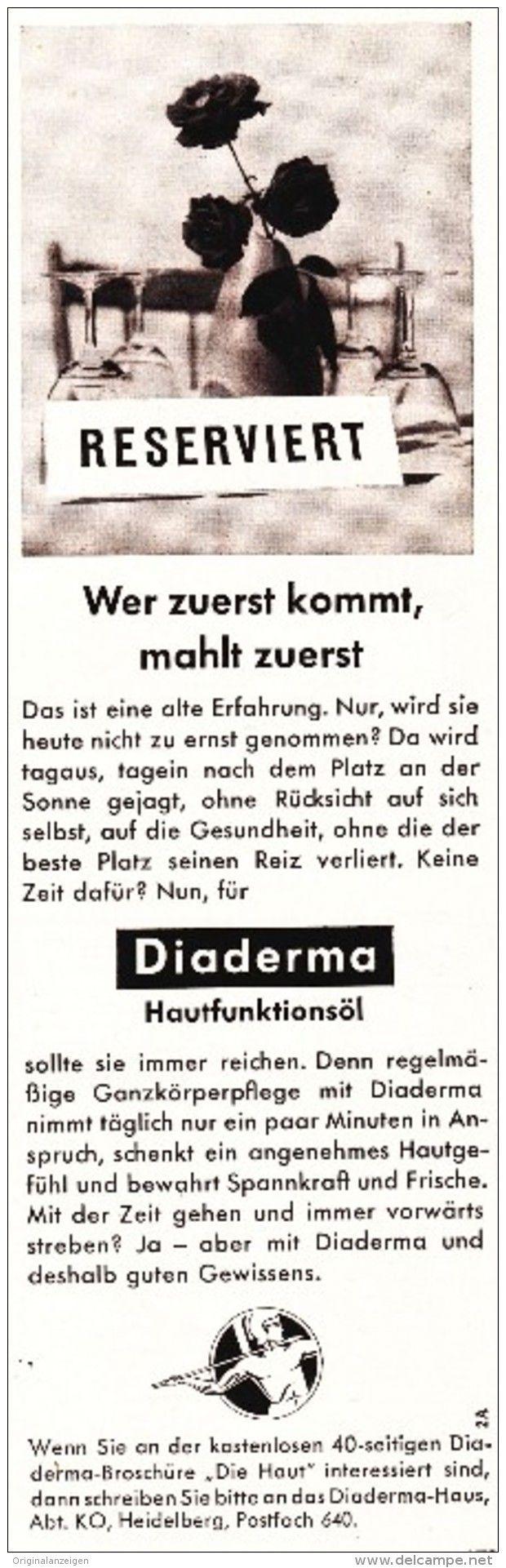 Original-Werbung/Inserat/ Anzeige 1961 - DIADERMA / MOTIV ROSEN - ca. 80 X 180…