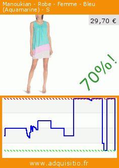 Manoukian - Robe - Femme - Bleu (Aquamarine) - S (Vêtements). Réduction de 70%! Prix actuel 29,70 €, l'ancien prix était de 99,00 €. http://www.adquisitio.fr/manoukian/robe-femme-bleu-20