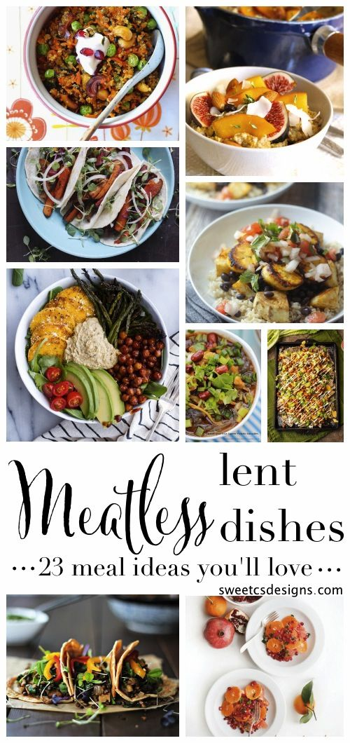 meatless lent dishes you will love - this is a great list of gluten free, healthy vegan dishes!