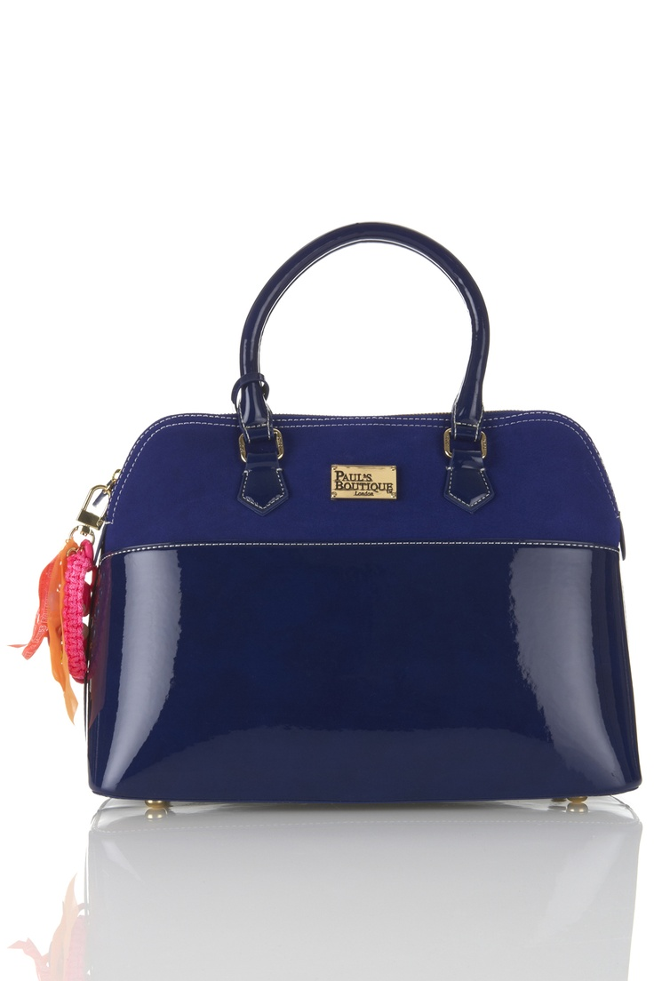 NEW AW12 Blue PU & REAL SUEDE Maisy Bag