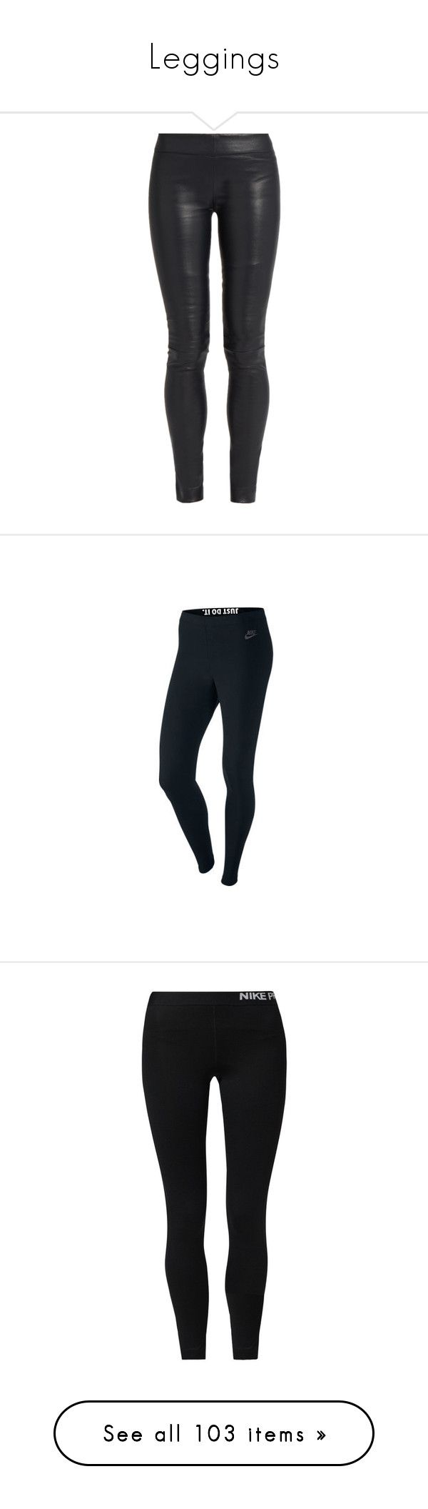 """Leggings"" by elephant10 ❤ liked on Polyvore featuring pants, leggings, bottoms, jeans, navy, navy blue skinny pants, elastic waist pants, skinny leather pants, stretch leather leggings and stretch leggings"
