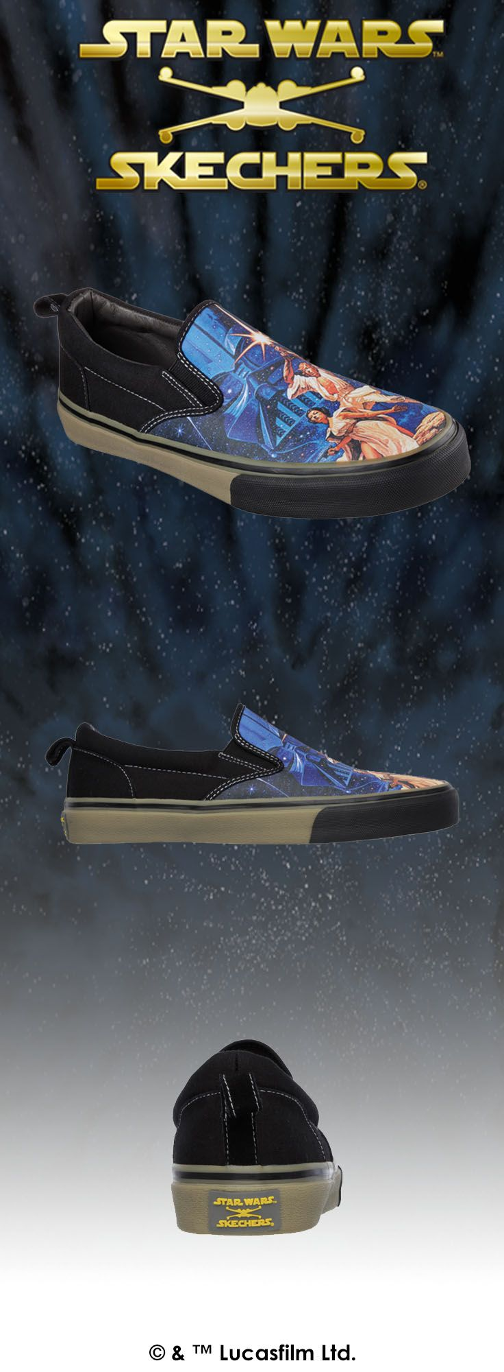 Celebrate the original that started it all with the STAR WARS: A NEW HOPE™ canvas slip-on for adults and kids.   http://spr.ly/6004BuHbA