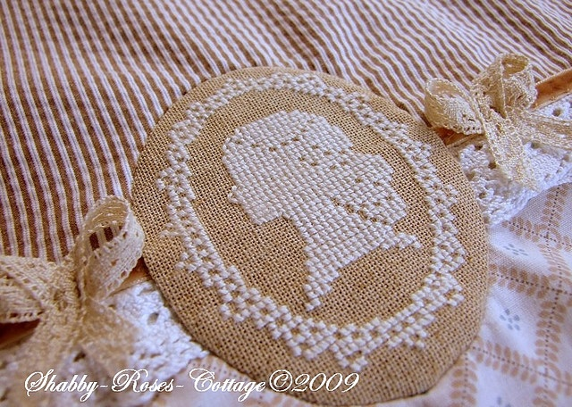 Cameo cross stitched - beautiful