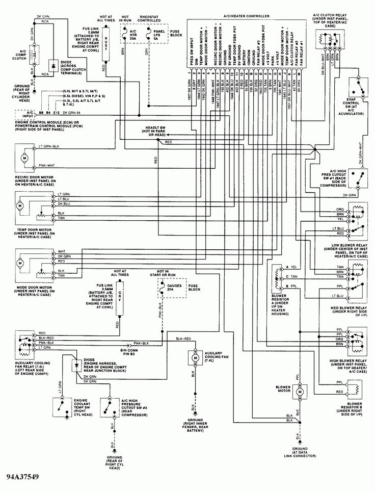 Wiring Diagram For 1990 Chevy Pickup With Deisel Engine