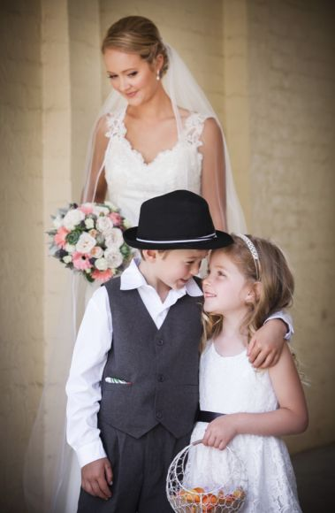Flower girl & page boy, get them in on the fun!  Captured by Melbourne Wedding Photographer STUDIOMAX