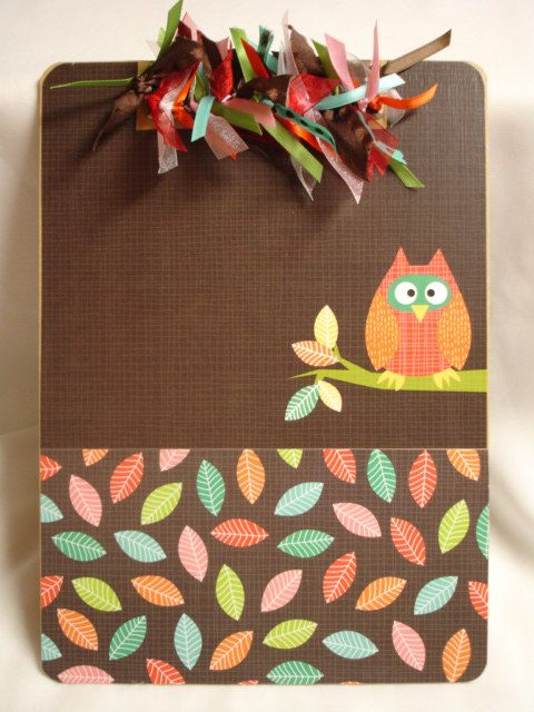 Owl Clipboard Altered Decorated