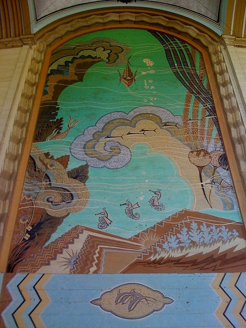 9 best images about catalina island casino on pinterest for Art nouveau mural